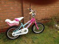 "Girls Misty Ammaco 16"" Wheel bike"