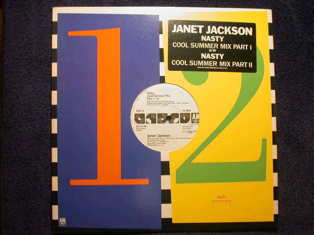 "JANET JACKSON - NASTY - COOL SUMMER MIX - U.S. PROMO 12"""