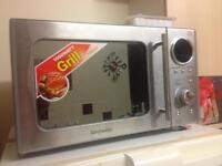 Daewoo 20 Litre 800W Touch Control Microwave and Grill Stainless Steel