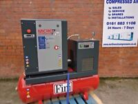 Fini Air Compressor 7.5HP, Receiver Mounted & Dryer Package