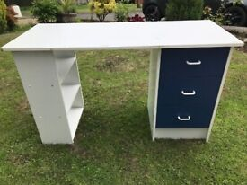 OFFICE / HOME WORK DESK - 3 DRAWER - USED CONDITION - ONLY £35