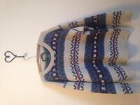 Hand Knit Vintage Beaver Canoe Sweater