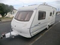 REDUCED Ace Award morningstar 4 berth touring caravan 2003 with power mover lovely condition
