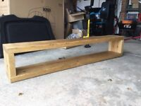 Solid Oak Chunky Storage Shelf