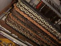 Chains, Sizes from 6' to 75' long [ avg $2.00 ft] or less