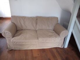 Double comfy sofa in good condition. Beige/ cream