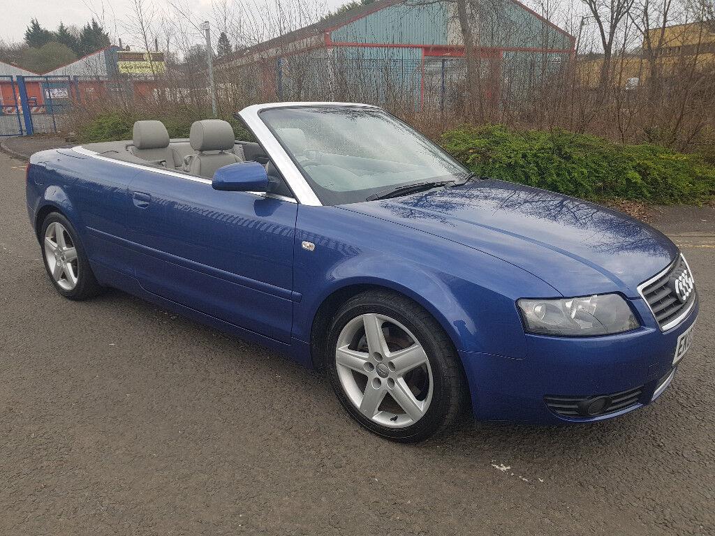 2003 (03) Audi A4 Cabriolet 2.4 V6 * 41k Miles + F/S/H + 12 Month MOT *   in Clydebank, West ...