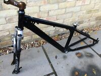 Azonic Dirt Jump Trials Bike Frame and Marzocchi Forks
