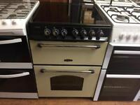 Black/cream 60cm electric cooker
