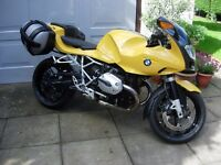BMW R1200S Sports Boxer, low miles, with luggage.