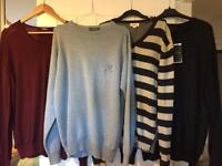 4 Large/Medium Mens Jumpers (will sell separately) Diesel, Lyle and Scott, TM Lewin, Jeff Banks