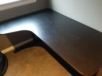 Ikea Bekant Left Corner Desk Black
