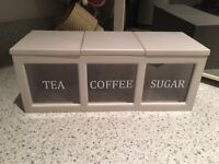 Tea, coffee and sugar canister from next