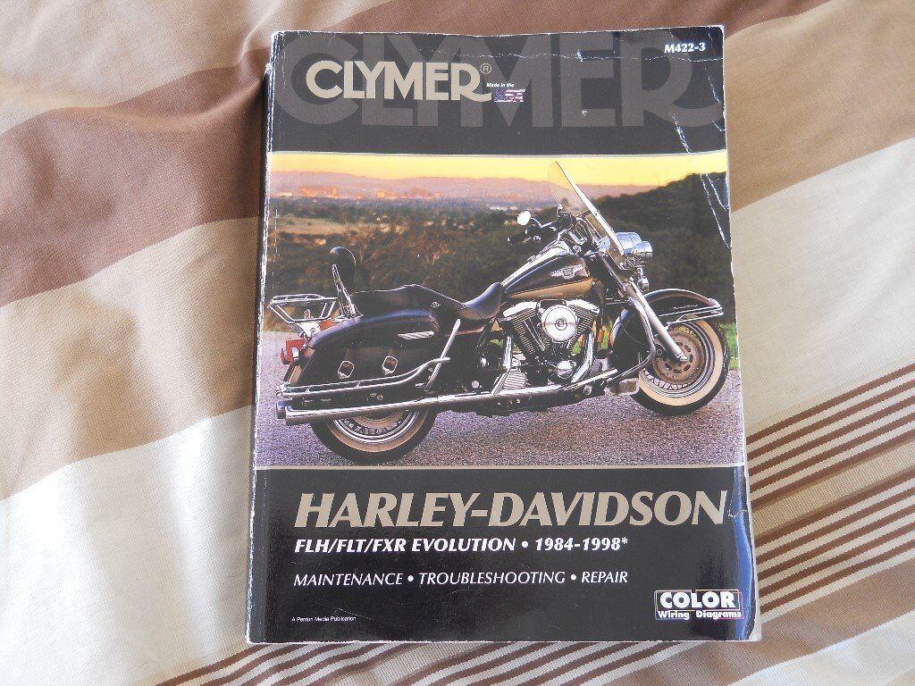 Harley Davidson FLH/FLT/FXR Evolution 1984-1998 Clymer Service Workshop  Manual