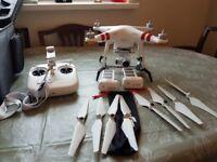 Dji phantom 3 drone with 2 batterys