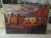XXL Framed Brooklyn Bridge - Immaculate - Ready to Hang - 140 x 100