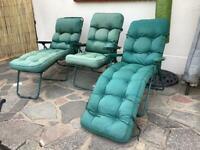 3 x relaxer sun chairs