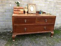 QUEENS ANNE CHEST UNITE FREE DELIVERY TV TABLE SIDEBOARD 🇬🇧
