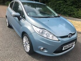 FIESTA 1.4 TDCI TITANIUM 3 DR 09 REG IN OCEAN BLUE WITH GREY TRIM,SERVICE HISTORY AND MOT FEB 2019