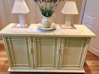 Painted wooden sideboard