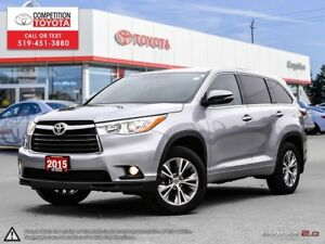 2015 Toyota Highlander LE Toyota Certified, One Owner, No Acc...