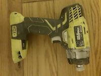RYOBI IMPACT DRIVER RID1801 it takes an18v lion battery this is a bare unit