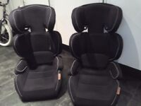 2 High back car booster seats Excellent condition