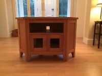 Corner TV stand in imitation Oak