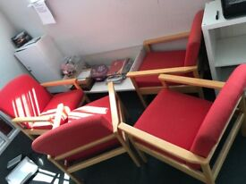 Second Hand 4 chair with glass table