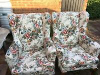 Vintage Pair of Parker Knoll Wingback chairs