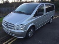 2011 11reg Mercedes Vito Traveliner 113Cdi Silver 8-9 Seater Mini Bus Face Lift