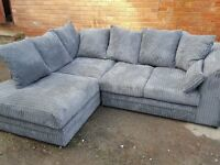 Lovely Brand New Jumbo Cord Corner Sofas. Many colours.Black Grey Brown Beige. quick delivery