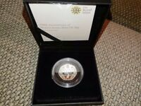 Royal Mint 2016 Beatrix Potter 150th Anniversary Silver Proof 50p coin limited edition - Free P & P