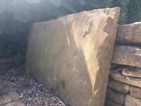 Solid stone hearthstone or doorstep slab