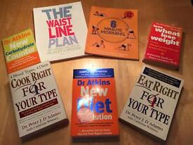 6 Diet Books & 1 Exercise Book Healthy Living