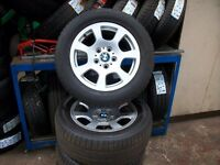5 Series BMW E60 Alloy wheels with Dunlop tyres 225/55/16.