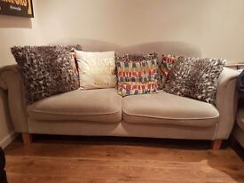3 seater fabric sofa only 12 months old, collage sofa from sofology
