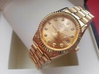 New Rolex Date Just Gold for sale!£35!