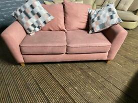 HARVEYS FABRIC SOFA IN BABY PINK COLOUR 2 seater