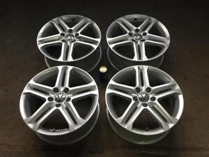 "LIKE NEW VOLKSWAGEN 17"" FACTORY ORIGINAL SILEX -  5 STAR DOUBLE SPOKE STERLING SILVER MAGS"