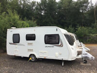 2013 2 berth Lunar Quasar 462 Touring Caravan with movers and comprehensive equipmentt