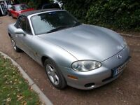 MX5 mx-5 mx 5. MK2 1600 manual. 2001. MOT'd DECEMBER. Looks and drives well. Everything works.