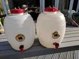 Home brew beer kegs