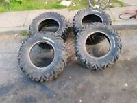 Quad tires size in pic