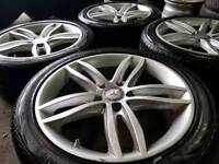 "GENUINE MERCEDES 17"" ALLOY WHEELS & TYRES 5X112 A B C E R CLASS VITO AMG CLK SLK"