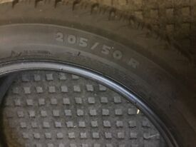 SNOW WINTER MICHELIN ALPIN 4 TYRES X 2 TYRES 205 50 R16