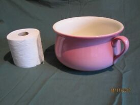 CHINA CHAMBER POT IN ROSE PINK