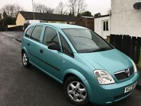 2004 vauxhall meriva MOT until November 2017!