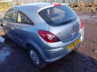 VAUXHALL CORSA D 2006 2 DOOR FOR BREAKING ONLY FOR PARTS IN BLUE