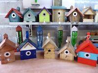 Various Bird Boxes, Bird Tables & Planters